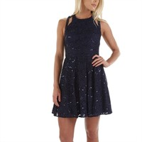 Morgan & Co. Juniors Sequin and Sparkle Skater Dress at Von Maur