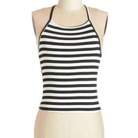 ModCloth Vintage Inspired Short Spaghetti Straps Chill and Grill Out Top