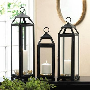 Sleek and Lean Candle Lantern - 21 inches