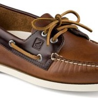 Sperry Top-Sider Authentic Original Cyclone Leather 2-Eye Boat Shoe Tan/Amaretto, Size 10M  Men's Shoes