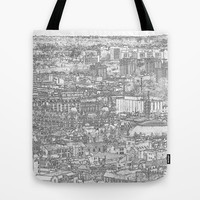 Leeds City Drawing Tote Bag by Karl Wilson Photography