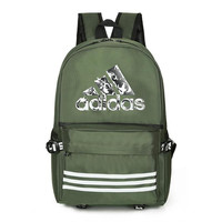 Adidas Canvas high school student backpack women's leisure sports bag