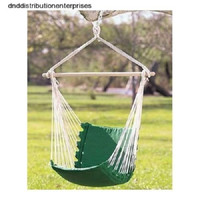Hammock Chair Swing Garden Yard Patio Camp Cotton Canvas Woven Rope Green NEW