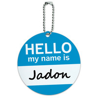 Jadon Hello My Name Is Round ID Card Luggage Tag