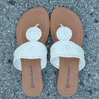 Preppy Sandal – White
