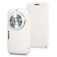Moon Monkey Retro Classic Business Protective Folio Cover Case for Samsung Galaxy K S5 Zoom (MM425) (White)