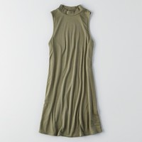 AEO MOCK NECK SHIFT DRESS