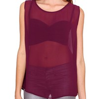 Beyond Love Chiffon Top - Red