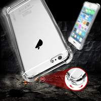 6s Plus 7 Plus Slim Transparent Shockproof Case For iPhone 7 6 6S Clear Soft Rubber Back Phone Cover For iPhone 6 6S Plus 7 Plus