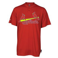 St. Louis Cardinals (ADULT MEDIUM) Two Button MLB Officially Licensed Majestic Major League Baseball Replica Jersey