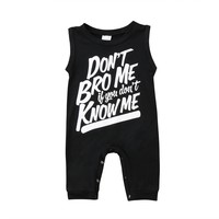 Don't Bro Me If You Don't Know Me Romper