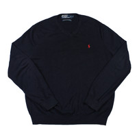 Vintage Polo by Ralph Lauren Sweater in Navy Mens Size Small