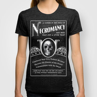 Faux School of Necromancy Recruitment Poster T-shirt by Egregore Design