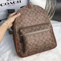 COACH PVC LEATHER TRAVEL BAG BACKPACK BAG