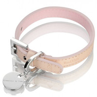 Hennessy & Sons Oxford Natural LV Dog Collar - Tan/Pink