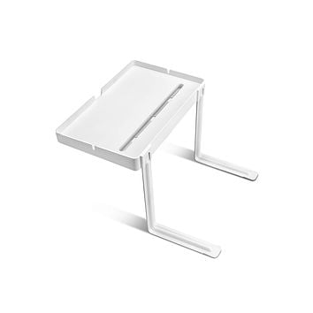 Phone Bed_Bedside Shelf, Bedside nightstand with Cable Management, Tablet Holder, Table, Very Simple & Easy Assemble Organizer for Charging Cables, Earphones.
