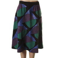 Marc by Marc Jacobs Womens Suede Patchwork Flare Skirt