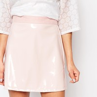 Reclaimed Vintage X Liquid Lunch Patent Mini Skirt