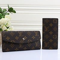 Louis Vuitton LV Hot Two-piece Set Classic Long Wallet Card Holder Fashion Men's and Women's Wallets Key Cases