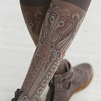 Ayame Womens Diamond in the Sky Tall Socks - Gold One