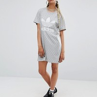 adidas Originals X Pharrell Williams Printed T-Shirt Dress at asos.com