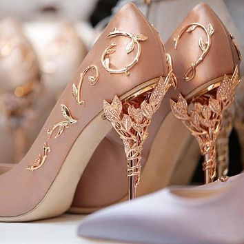 High Heels Rhinestone Flower Stiletto Shoes High Heels Shoes