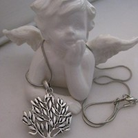 Life Tree - Earring - Necklace set - Silver plated