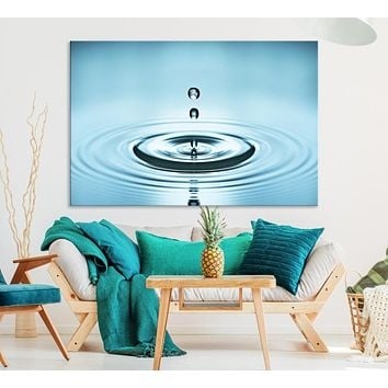 Large Water Droplet Wall Art Canvas Print