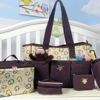 SOHO Curious Monkey 6 in 1 Deluxe Diaper Bag *Limited time offer*