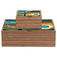 DENY Designs Madart Inc. Aqua Burn Jewelry Box