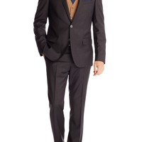 'Hutson/Gander' | Slim Fit, Stretch Virgin Wool Suit by BOSS