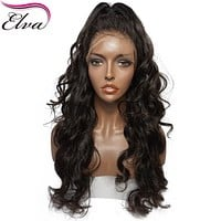 Elva Hair Lace Front Human Hair Wigs For Black Women With Baby Hair Loose Wave Brazilian Remy Hair Wigs Pre Plucked Hairline