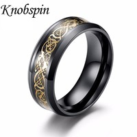 Vintage Dragon 316L stainless steel Ring Jewelry for Men 4 colors lord Wedding Band personalized male ring Free Shipping