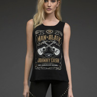 Johnny Cash Sleeveless Tank