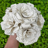 Harry Potter Book Bouquet-Book lover gift-Book Bouquet-Book decor- Unique Gift- Bridal Bouquet- Paper Roses-Wedding. 6 roses