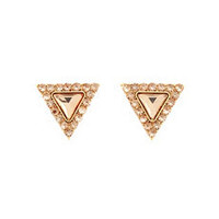 Faceted Rhinestone Triangle Earrings: Charlotte Russe