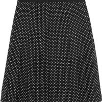 Tory Burch - Erica polka-dot silk skirt