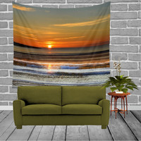 Wall Tapestry - 'Magical Sunset' - Home Decor - Wall Decor, Modern, Home Warming, Gift, Symmetry, Bohemian, Boho, Ocean, Sunset, Colorful