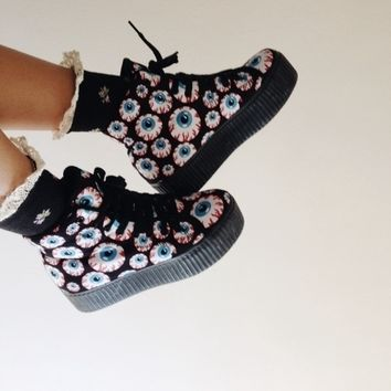 Jeffrey Campbell Play | Hiya Eyeball Platform Sneakers