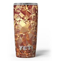 Orange Geometric V5 - Skin Decal Vinyl Wrap Kit compatible with the Yeti Rambler Cooler Tumbler Cups