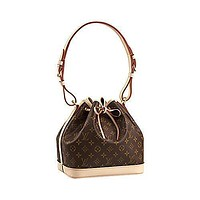Tagre™ Authentic Louis Vuitton Monogram Canvas Petit No¨¦ NM Shoulder Bag Strap Handbag Articl
