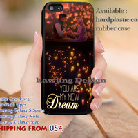 You Are My New Dream Quote iPhone 6s 6 6s+ 5c 5s Cases Samsung Galaxy s5 s6 Edge+ NOTE 5 4 3 #cartoon #animated #disney #tangled dl10