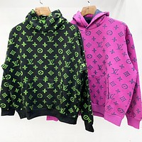 Louis Vuitton LV   Autumn Winter Newest Fashion Women Men Jacquard Hoodie Velvet Sweater Sweatshirt Top