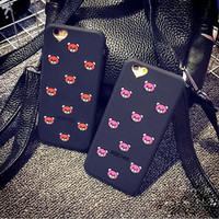 Cute bear mobile phone case for iPhone 7 7 plus iphone 6 6s 6plus 6s plus + Nice gift box!