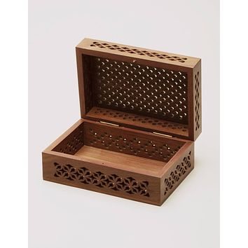 Fair Trade Carved Rosewood Box