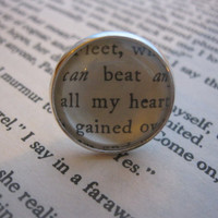 Vintage book page ring 'all my heart' by AnEarthlyNature on Etsy