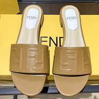 Fendi womens double F letter slippers shoes-1