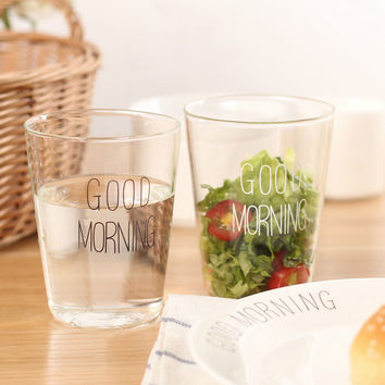 breakfast glass mug