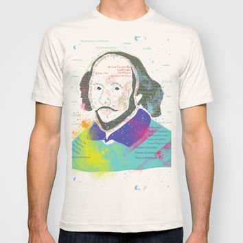 Portrait of William Shakespeare-Hand drawn T-shirt by famenxt