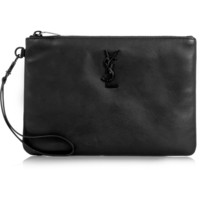 Saint Laurent - Monogramme leather pouch